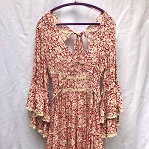 Free People Kristal Floral Mini Dress